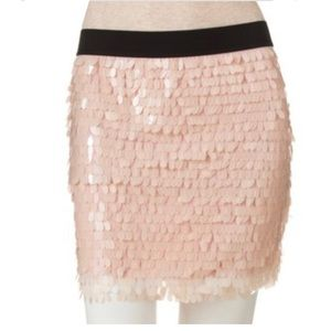 Candie's Pink Sequin Body Con Skirt-L NWT